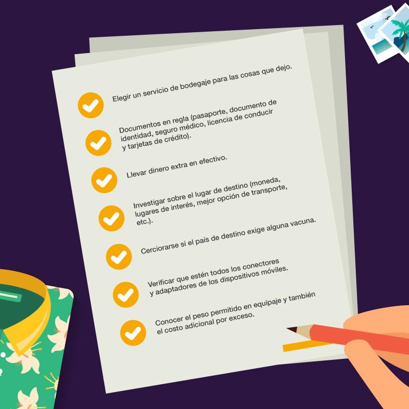 Checklist del viajero